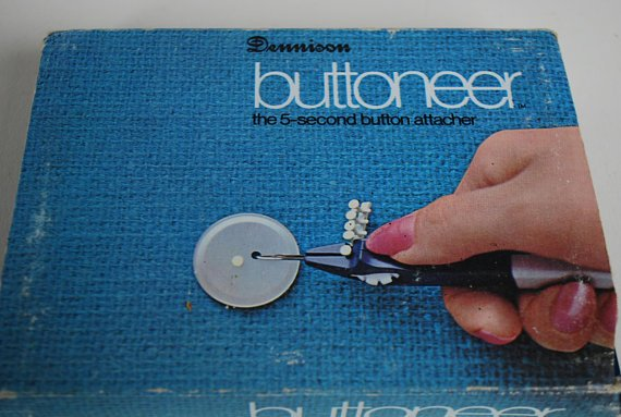 Vintage buttoneer by Dennison 1950's - 1960's