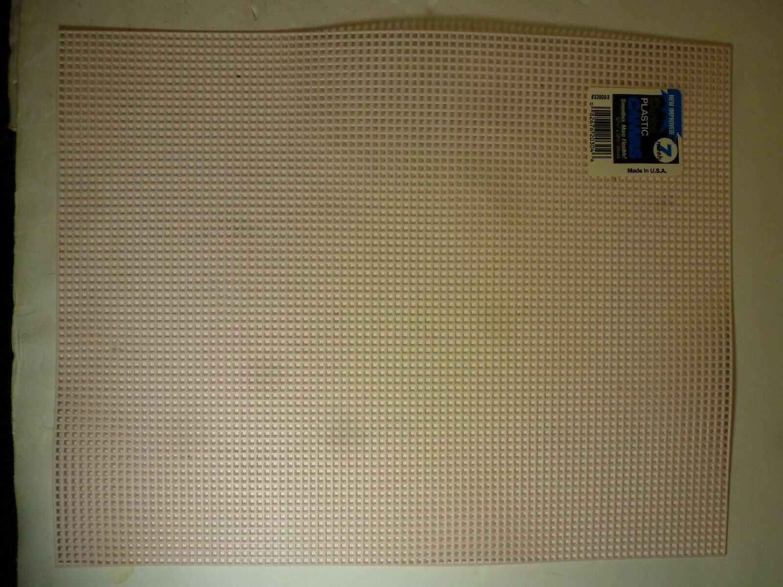 Plastic Canvas 7 mesh 10 1/2 x 13 1/2 White