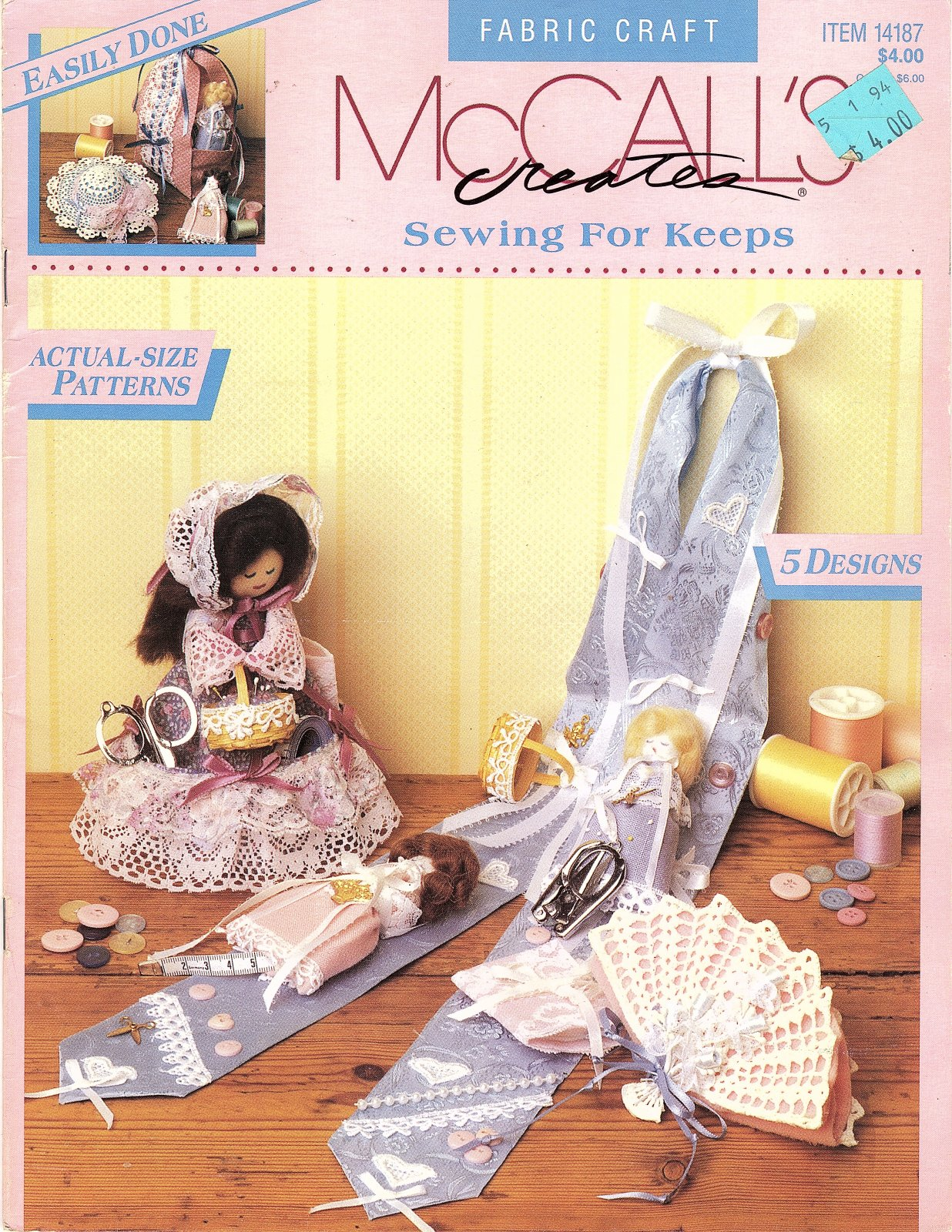 Sewing for Keeps  by McCall's Creates - 5 Designs Actual Size Patterns