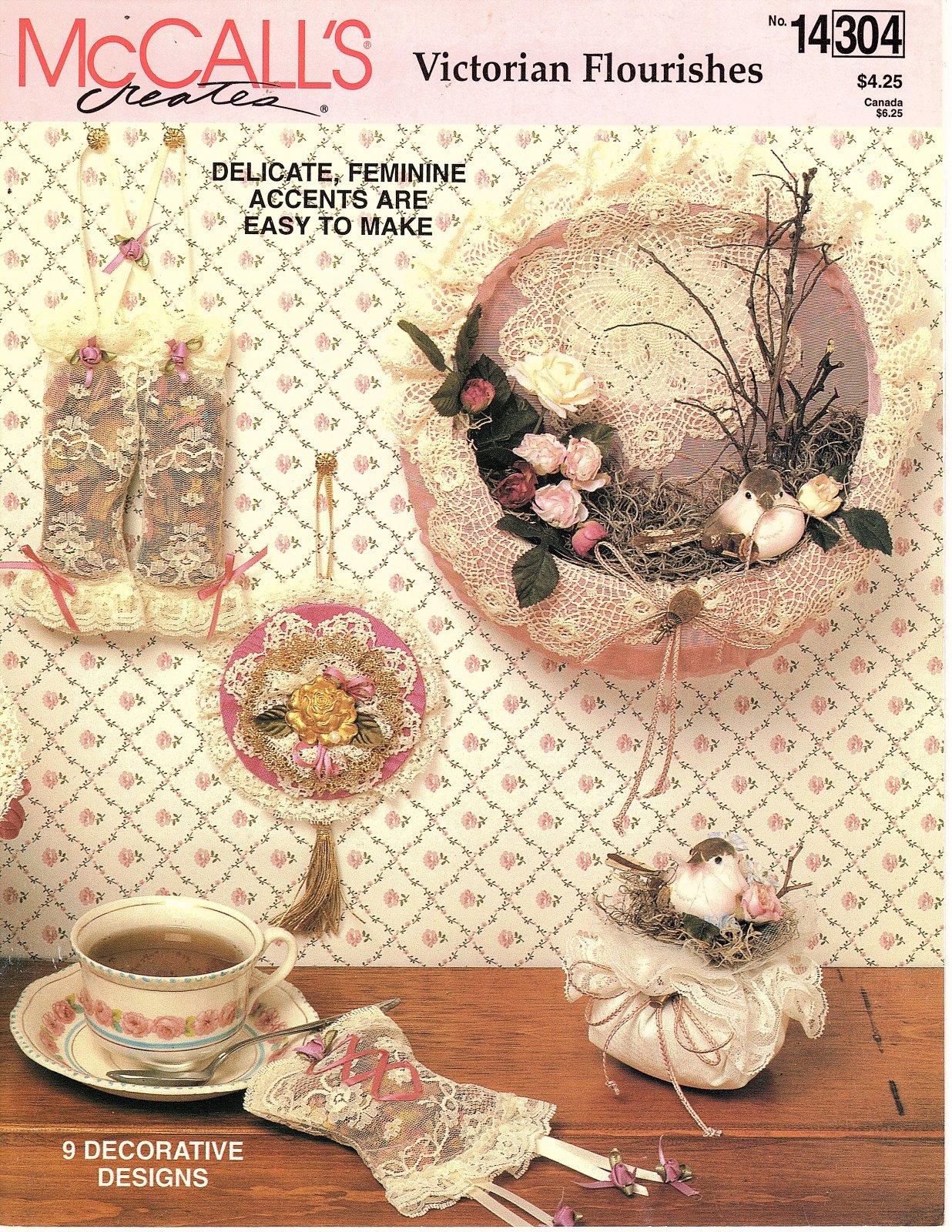 Victorian Flourishes  by McCall's Creates - 9 Designs - Delicate Feminine Accents