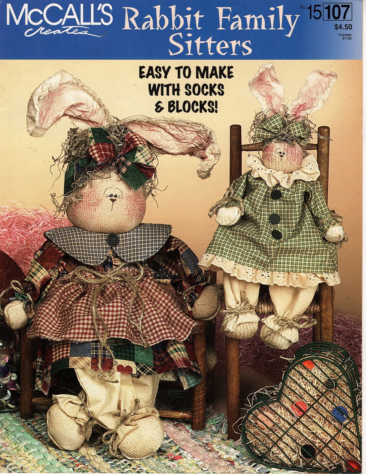 Rabbit Family Sitters by McCall's Creates - 3 Designs