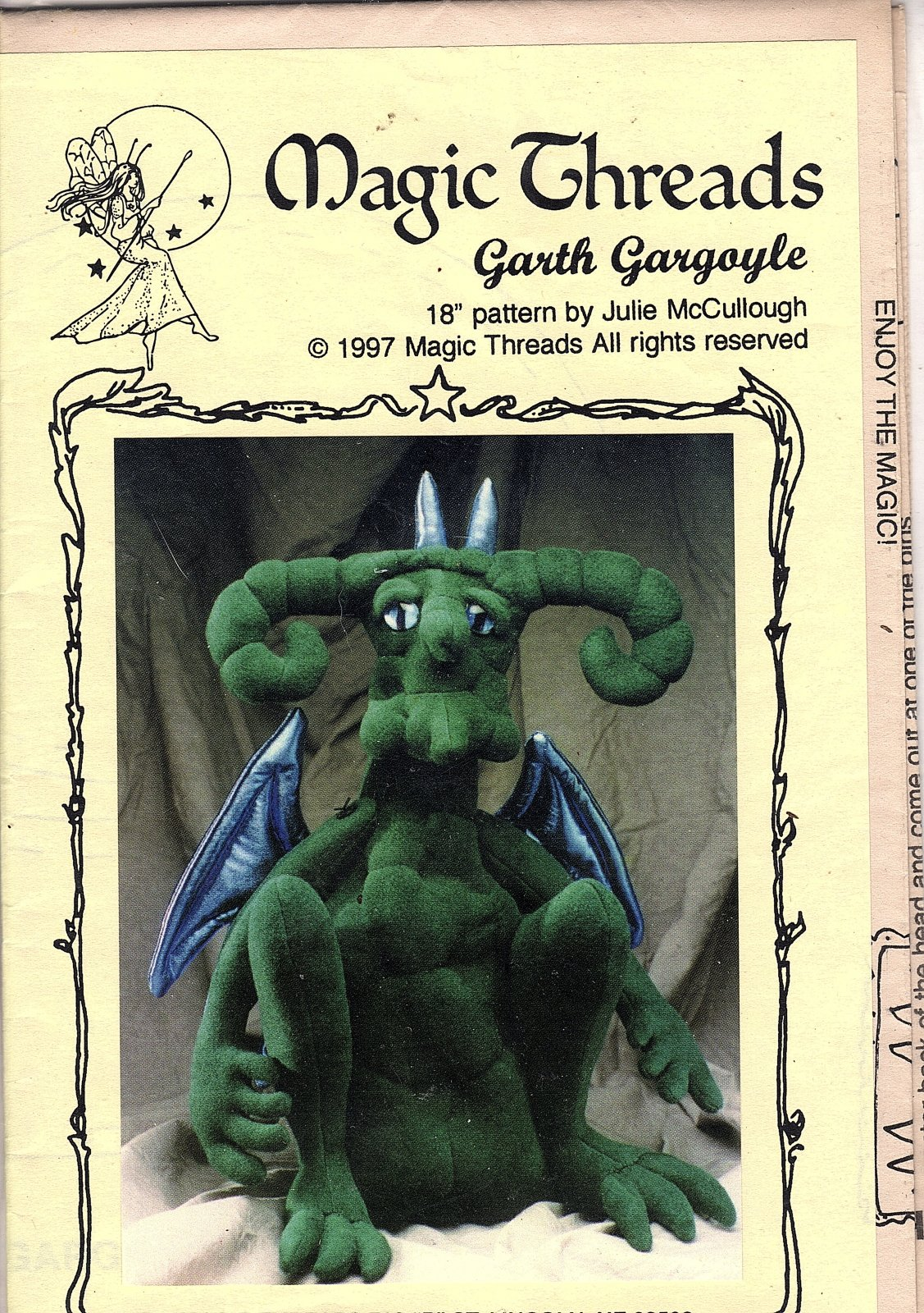 Garth Gargoyle - 18 Pattern by Julie McCullough for Magic Threads