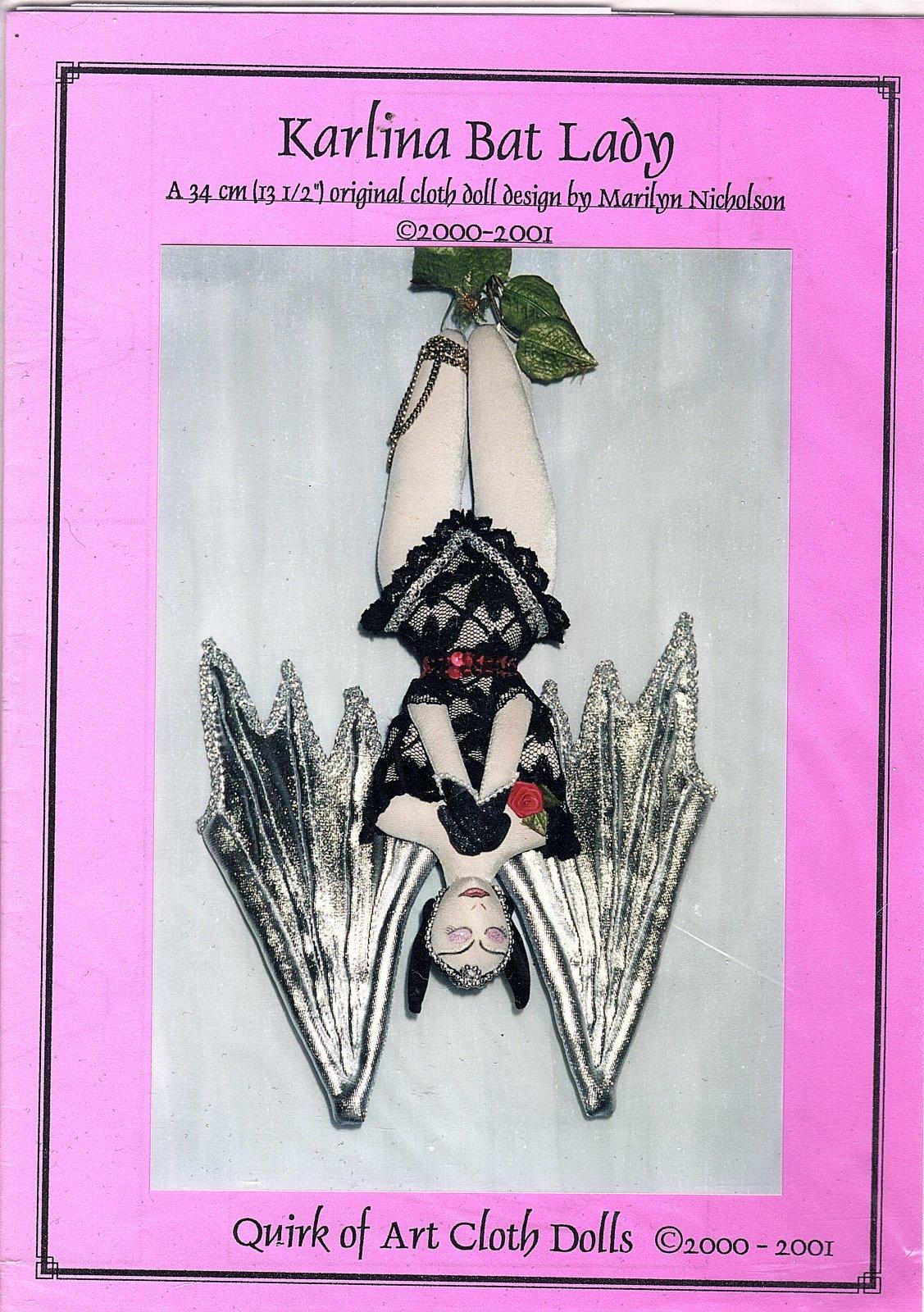 Karlina Bat Lady - A 13 1/2 original Doll Design by Marilyn Nicholson