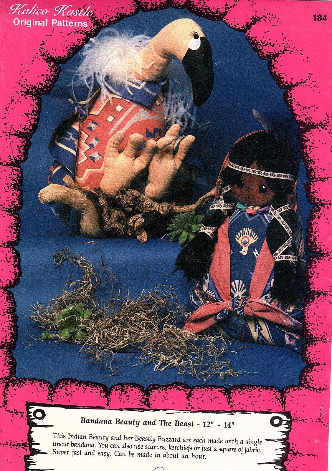 Bandana Beauty & the Beast 12 - 14 Tall Dolls - Kalico Kastle Original Patterns