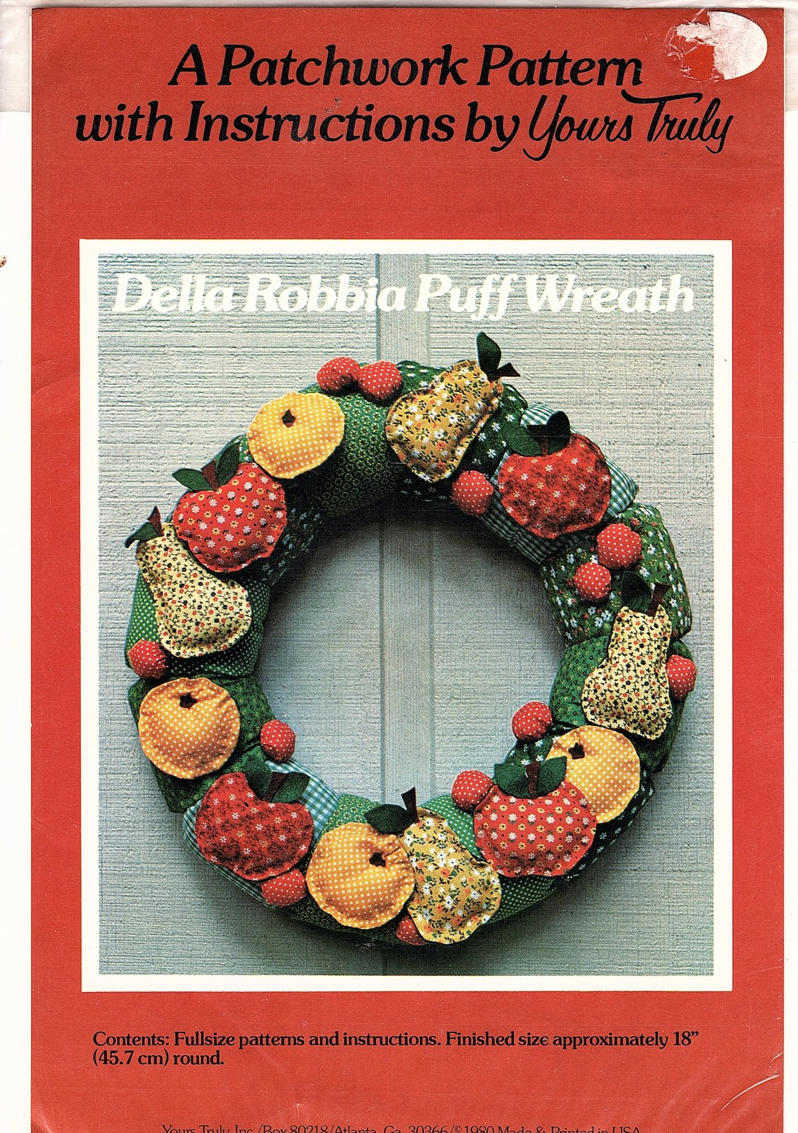 Della Robbia Puff Wreath - A Patchwork Pattern by Yours Truly -18 round