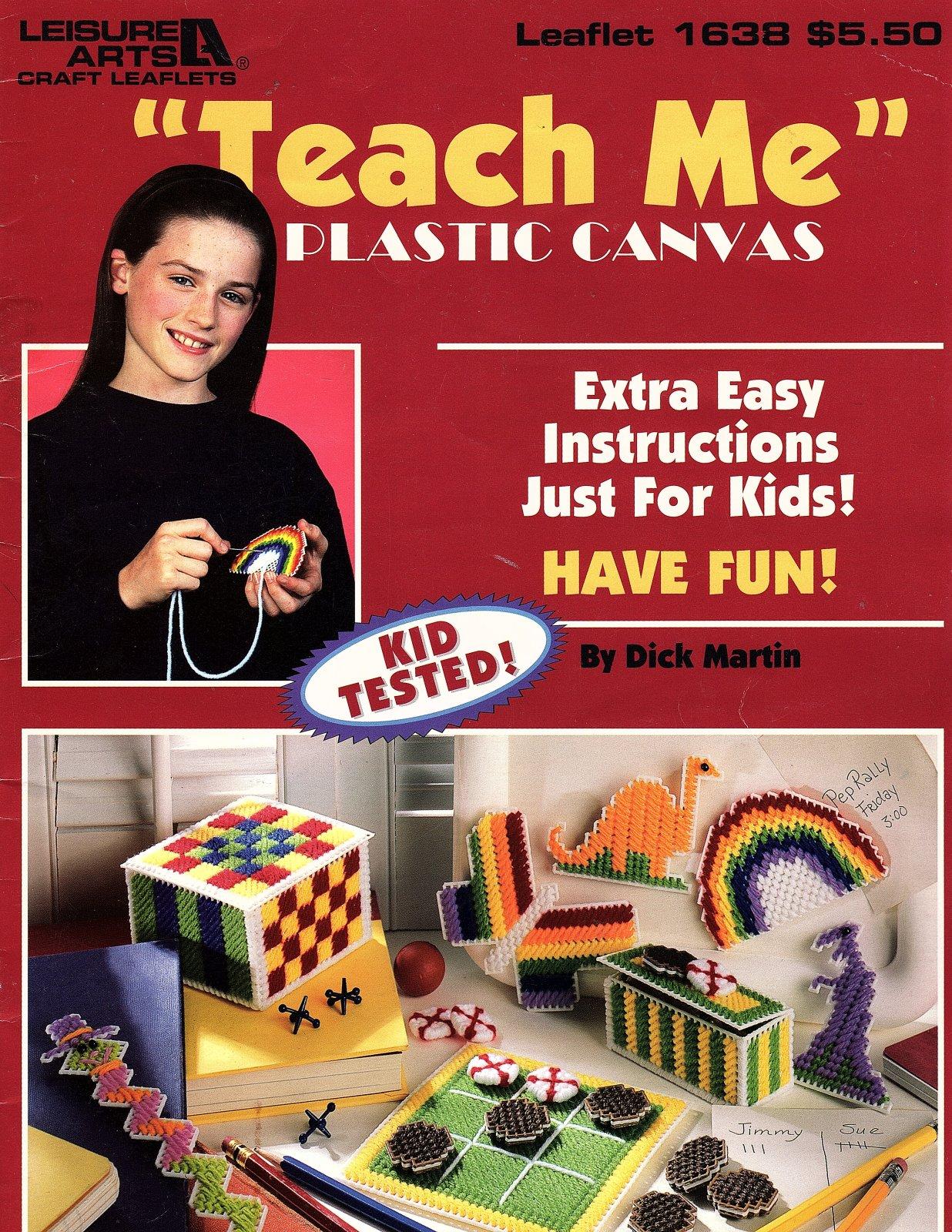 'Teach Me' Plastic Canvas - Leisure Arts Craft Leaflet 1638