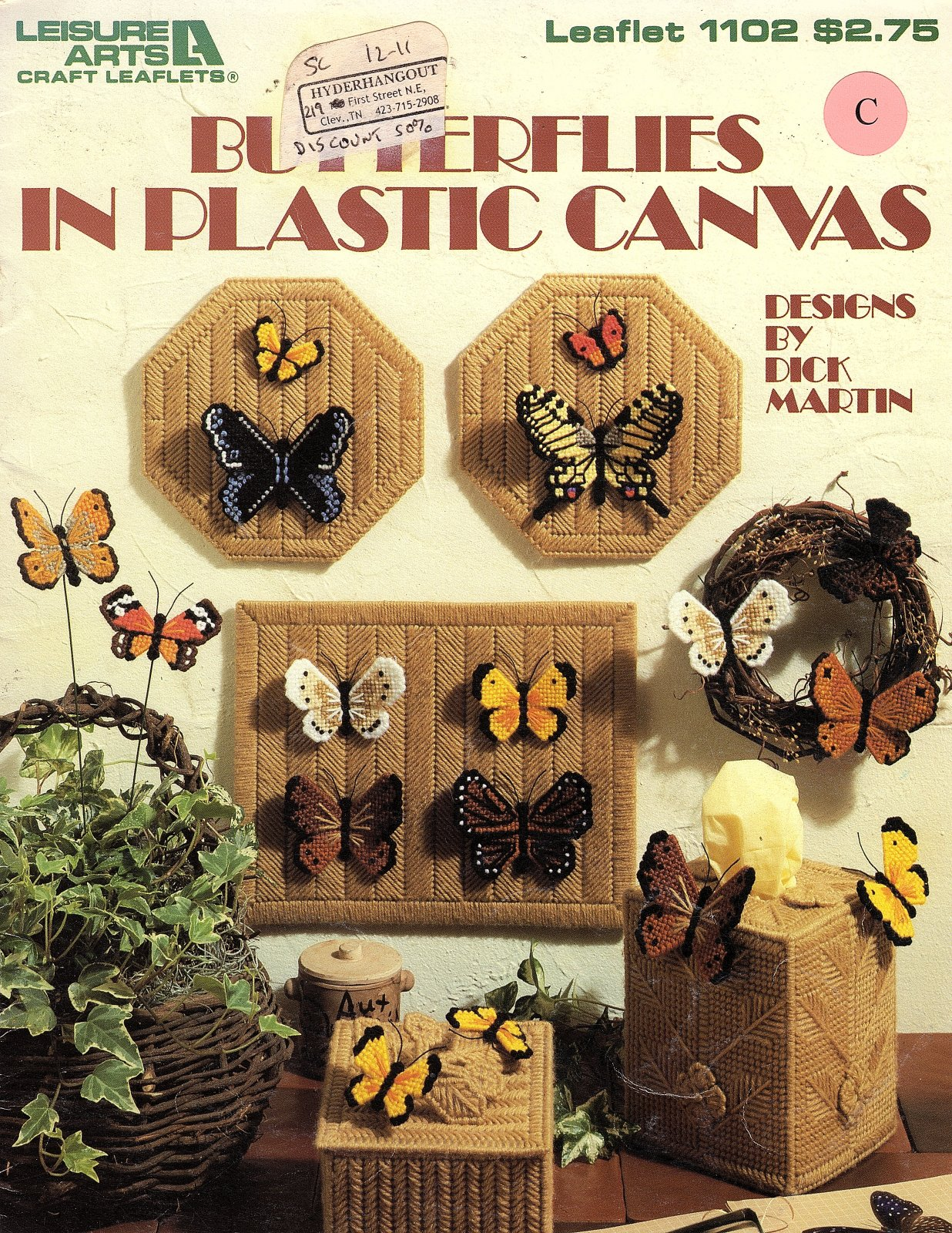 Butterflies in Plastic Canvas  Leisure Arts Leaflet # 1102 Designs by Dick Martin