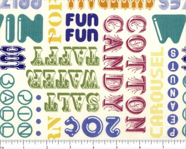 Asbury Multi Colored Words by Thomas Knauer for Andover