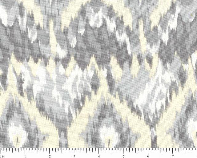 Fabric Canvas Print Geometric Print Timeless Treasures Gray and White 60''