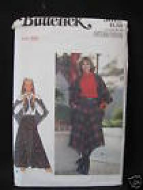 MISSES SKIRT AND SHAWL PATTERN  BUTTERICK 5619 SIZE 28 WAIST