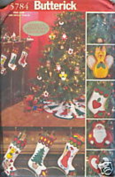 CRAFT PATTERN  CHRISTMAS DECORATIONS BUTTERICK 5784