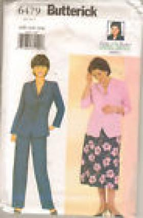 DELTA BURKE TOP SKIRT PANTS PATTERN  BUTTERICK 6479 SIZES 22-24-26