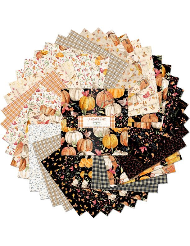 Autumn Day by Wilmington Prints-10 Karat Crystals (42-10 squares) by Nancy Mink