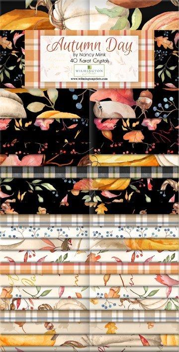 Autumn Day by Wilmington Prints-40 Karat Crystals (40- 2 1/2 strips) by Nancy Mink