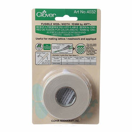 fusible web 10mm by 40ft by Clover