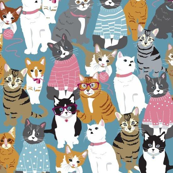 Cattitude Cats by Studio-e Fabrics, 4066-12