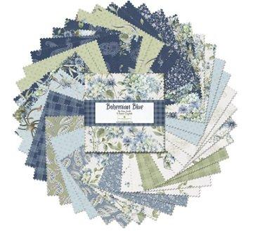 Bohemian Blue by Lisa Audit for Wilmington Prints-5 Karat Crystals-508-677-508, 5 Squares, 42 per pack