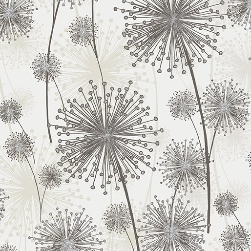 Nature's Pearl Dandelions by Kanvas for Benartex 8459 07