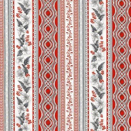 Holiday Flourish 10, APTM-16556-186 SILVER by Peggy Toole by Robert Kaufman