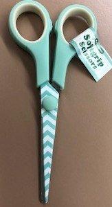 Mint Chevron Scissors 5.5