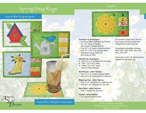 Spring Mug Rugs-ASD200