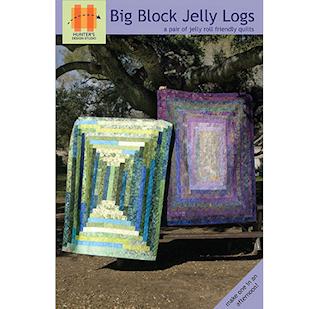 Big Block Jelly Logs Quilt Pattern by Hunters Design Studio - HDS.004