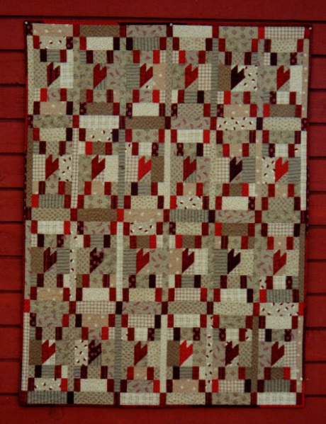 Blaze's Heart 43 x 58 quilt pattern by The Buggy Barn - BUG107
