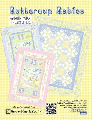 Buttercup Babies Flannel Quilt Kit 40x58 by Henry Glass & Co  - K10691