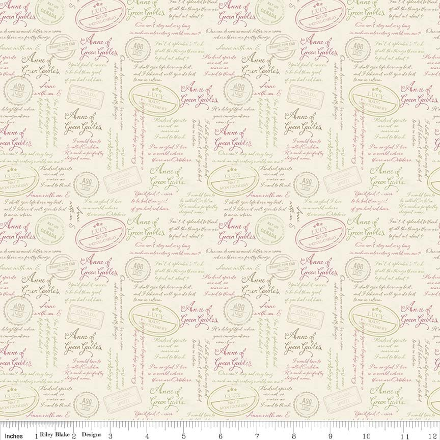 Anne of Green Gables by Riley Blake Designs, C5864-Cream