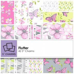 Flutter by Ellen Crimi-Trent for Clothworks charm packs 5 squares SQ0126