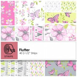 Flutter by Ellen Crimi-Trent for Clothworks jelly rolls squares ST0126