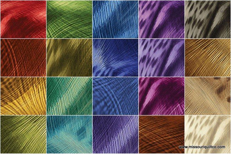 Electric Feather Strips by Caryl Bryer Fallert-Gentry for Benartex - JRELE4