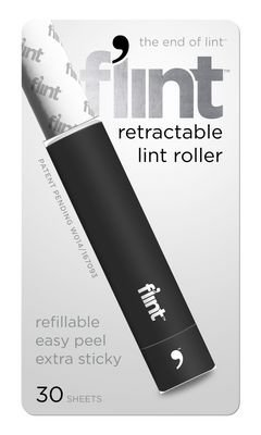 Flint, lint roller, black