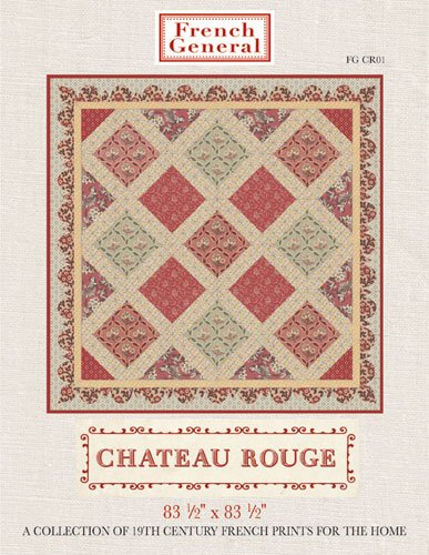 Chateau Rouge Quilt Pattern 84x84  by French General  - FG Cr01