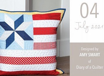 Pillow Kit of the Month by Riley Blake Designs-July Pillow Kit, KTP-17822