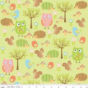 Owl & Co by Riley Blake C4941 green