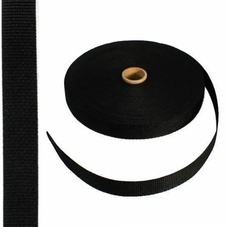 Black 1 Polypro Webbing, PPW1-BLK