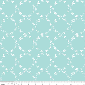 Butterfly Dance Circle Blue by Riley Blake Designs - C3894