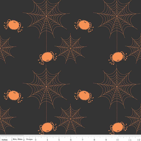 Holiday Banners - Holiday Spider Webs Black by Riley Blake Designs  - C565