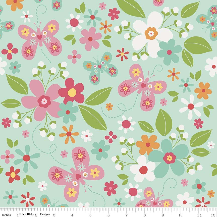 Garden Girl by Zoe Pearn for Riley Blake Designs, C5660-mint
