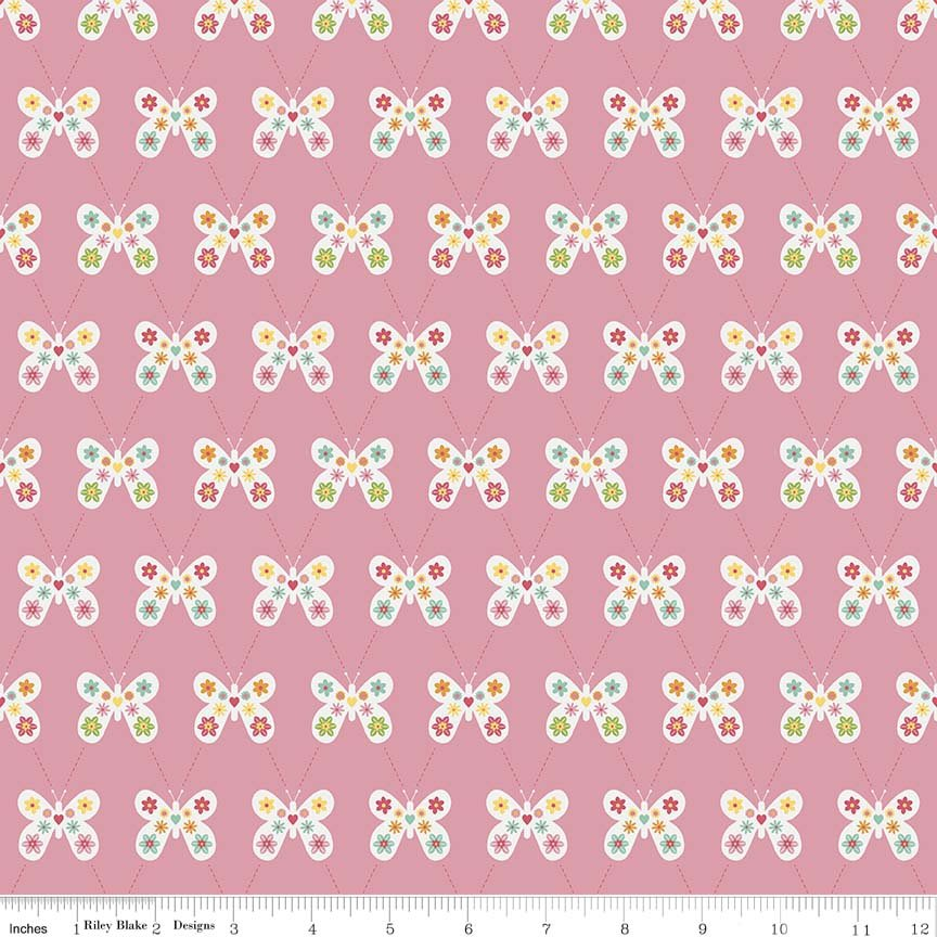 Garden Girl by Zoe Pearn for Riley Blake Designs, C5661--pink
