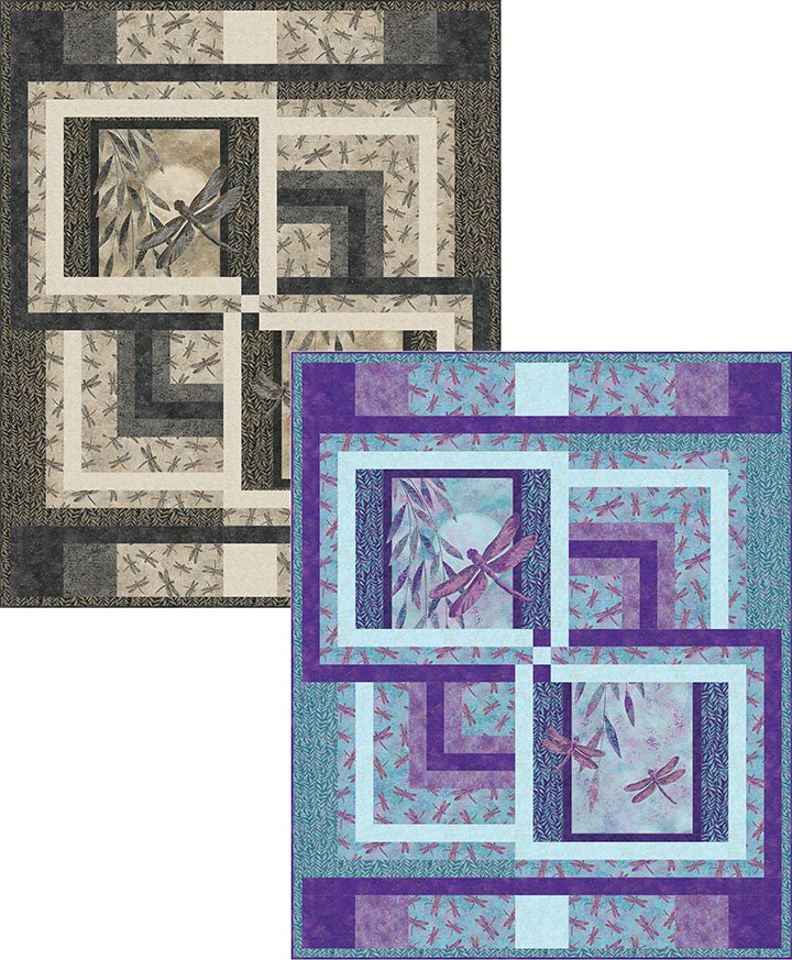 Dragonfly Delight Quilt Kit-56x68