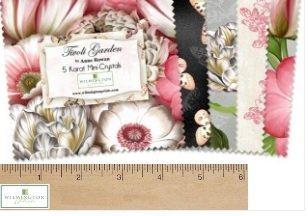 Tivoli Garden by Wilmington Prints, Q503-500-503, 5 Squares, Mini Crystals