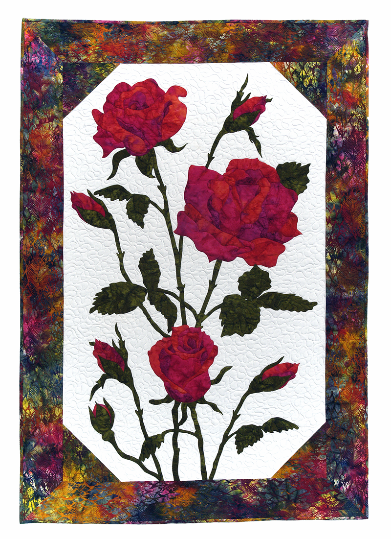 Roses 41 x 59 quilt pattern by Cleo's Designs
