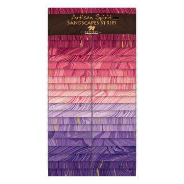 Artisan Spirit Sandscapes Strips by Northcott, SSANDS40-2884, Blush/Violet,
