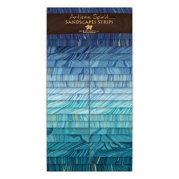 Artisan Spirit Sandscapes Strips by Northcott, 4663-40, Atmosphere/Lagoon