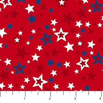 Northcott Sweet land of Liberty 21645 24 Star Stripe Cotton Fabric