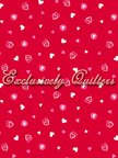 My Funny Valentine Red/hearts by Exclusively Quilters - 8613-10
