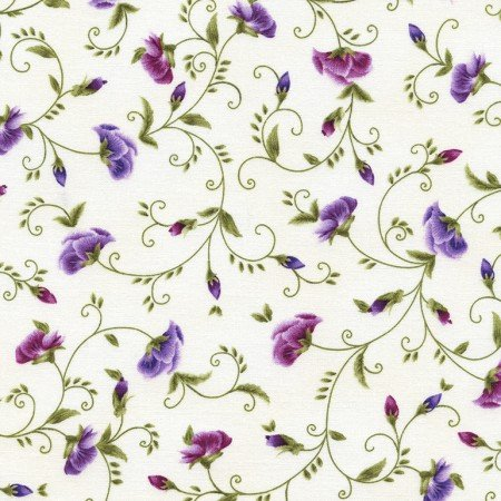 Viola pansy bud vines by Timeless Treasures - C4460