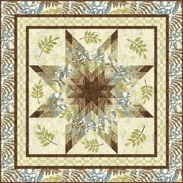 Woodland Star Quilt Pattern 62 x 62 by Plum Tree Quilts - PTN-031N